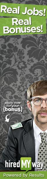 Banner ad campaign a rollin @ hiredMYway.com