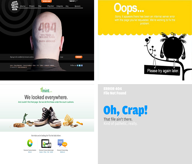 Cool 404 Pages: Helping Users Forget Your Website's Errors 3