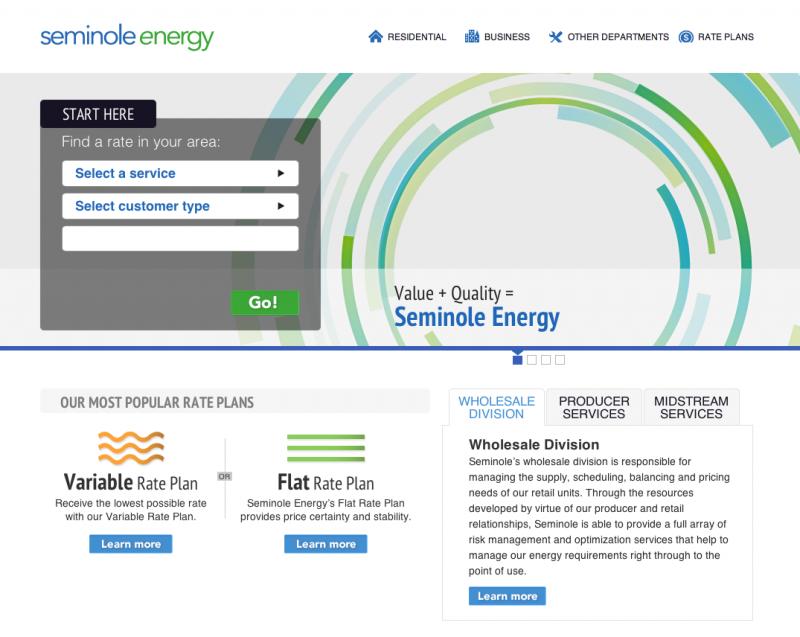 Seminole Energy Home Page