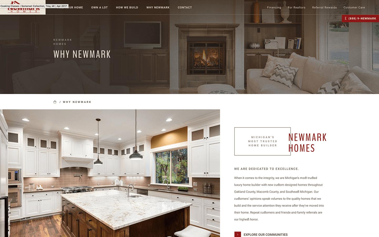 Newmark Homes - Formcode, Detroit Web Design - A Michigan Web Design ...