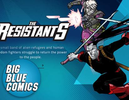 Big Blue Comics Website