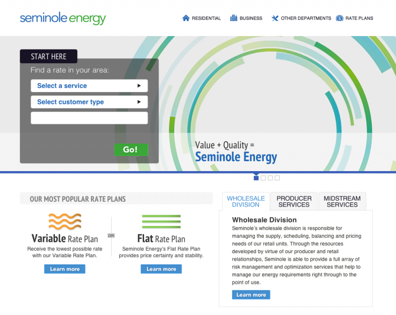Seminole Energy Home Page