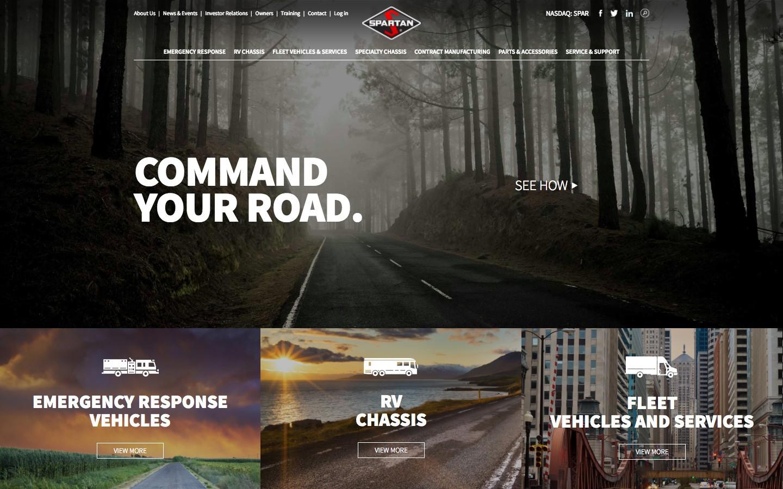 Spartan Motors - Formcode, Detroit Web Design