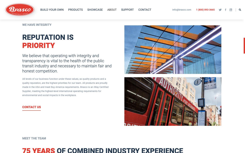 Brasco International Web Design 2