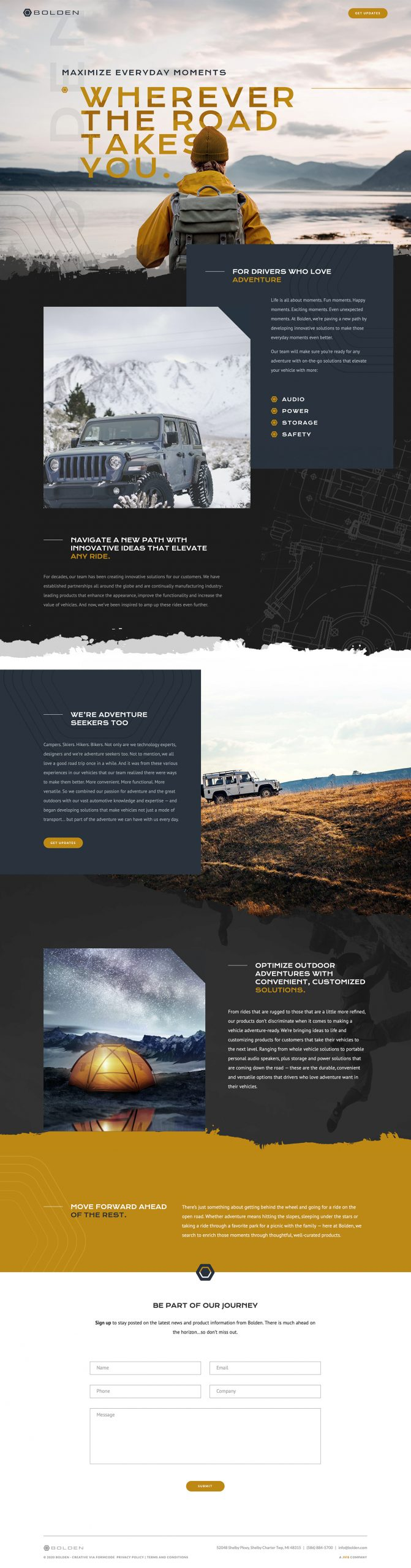 Bolden - Automotive Electronics Website Homepage