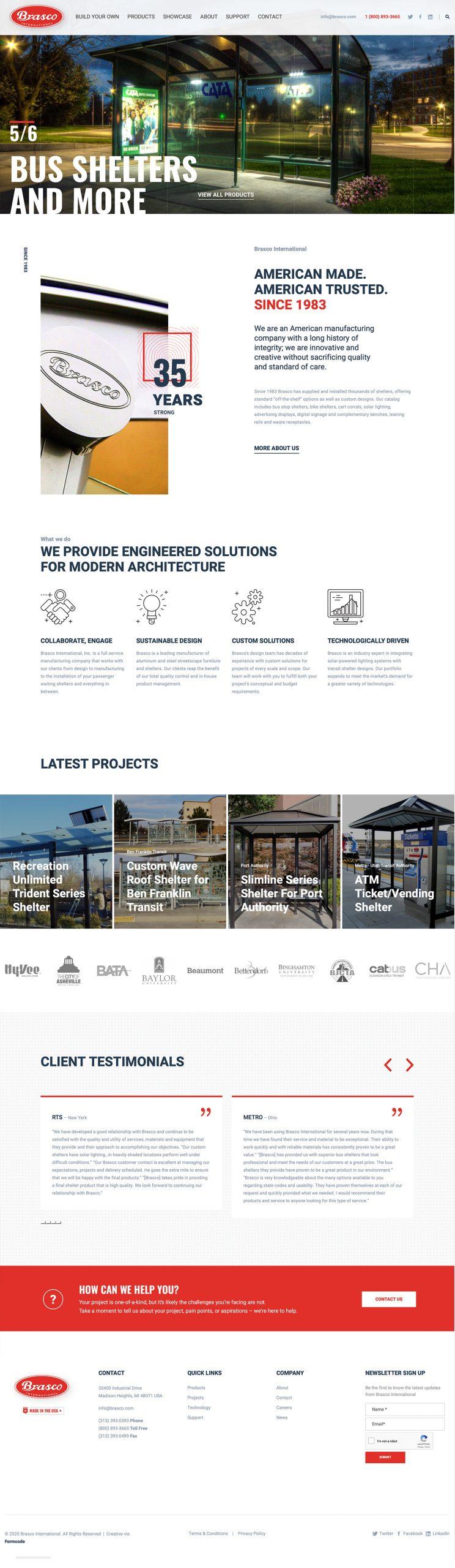 Public Transit Manufacturer Homepage