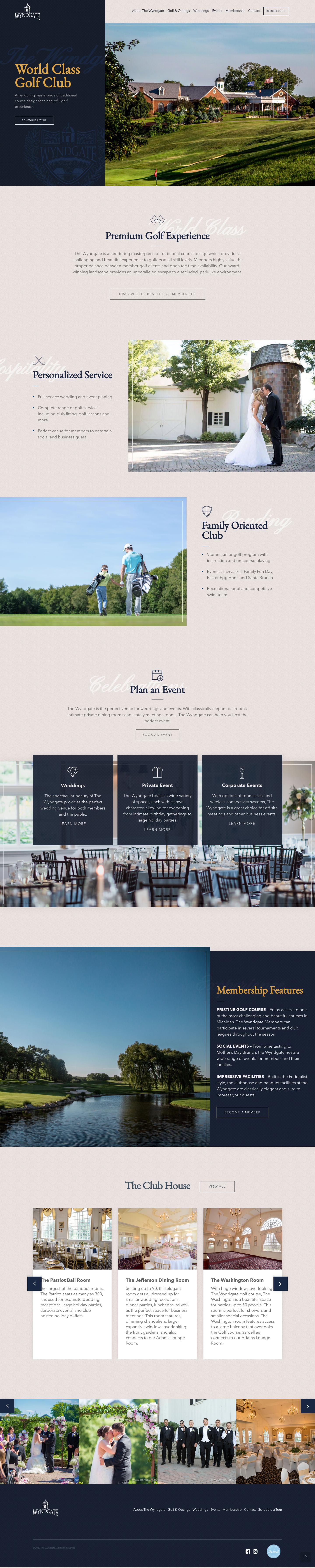 country club website design