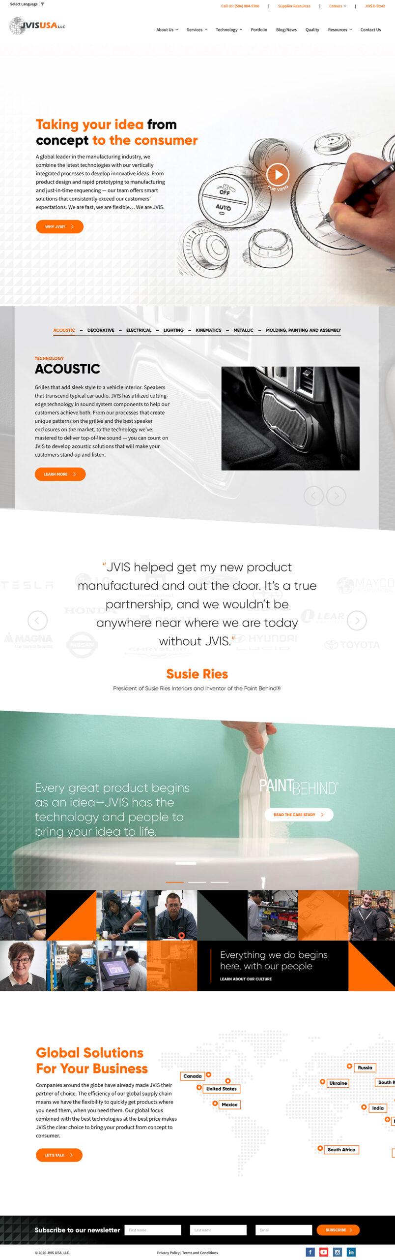 JVIS Automotive Manufacturer Home Page