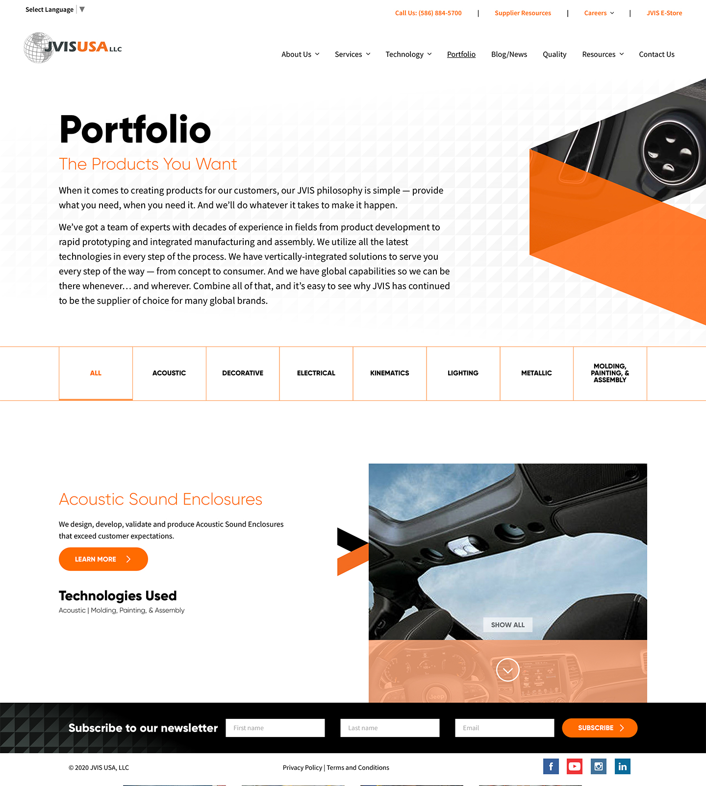 Global Supply Chain Website Design