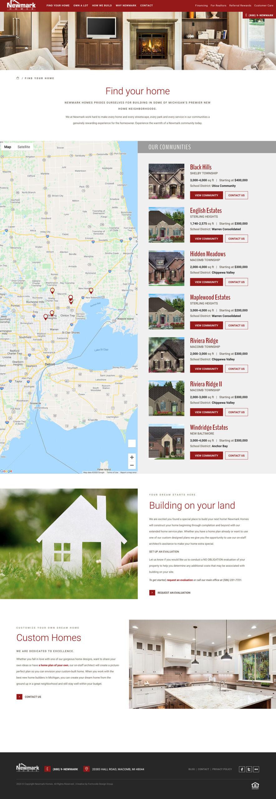 Homebuilder Homes Listing example