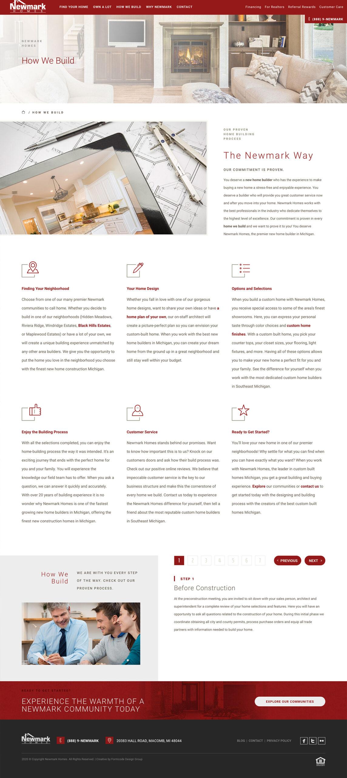 Homebuilder Process Details example