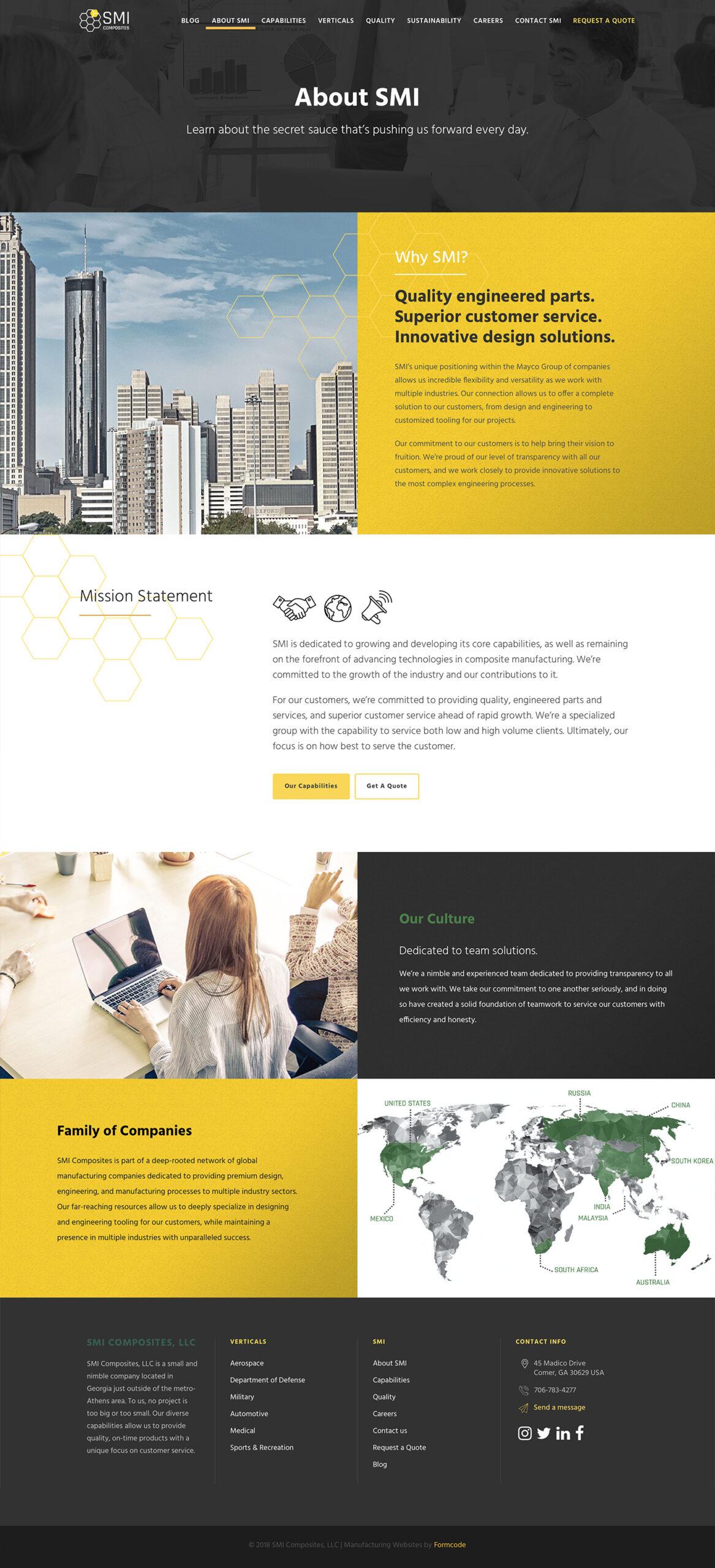 SMI Composites Manufacturer Information Page