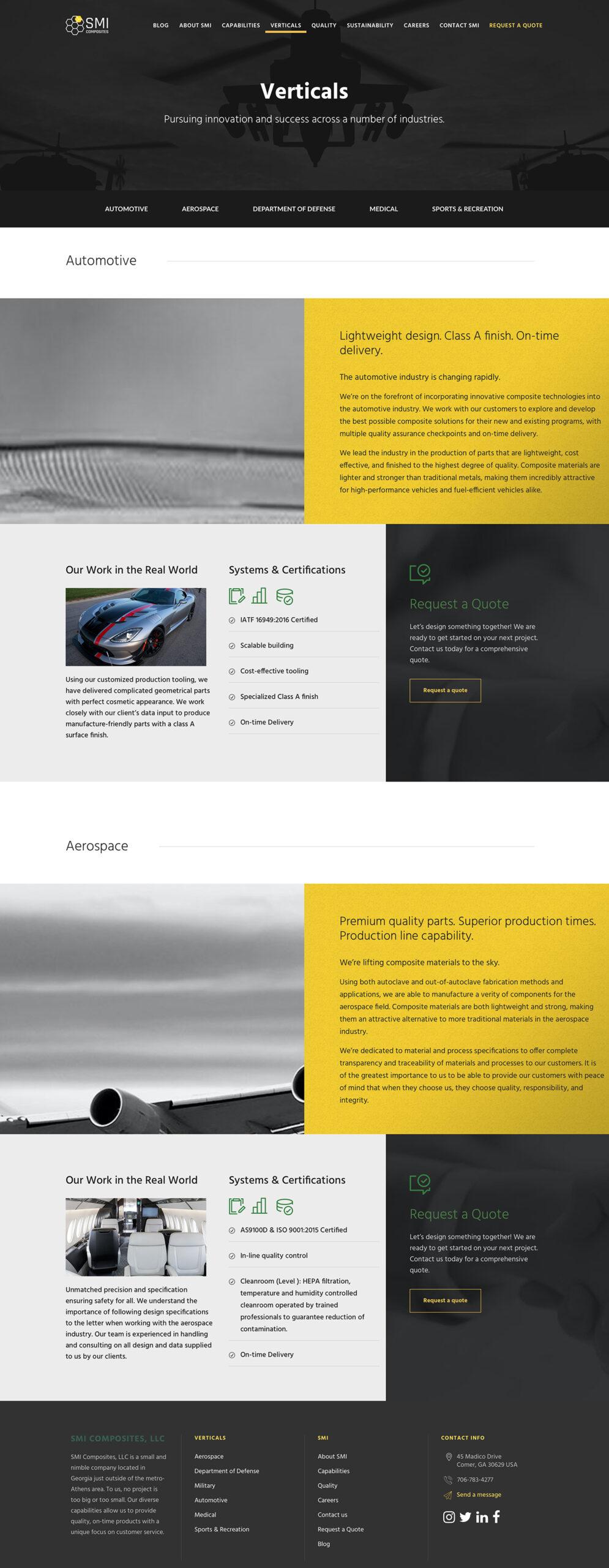 SMI Composites Manufacturer Information Page 2
