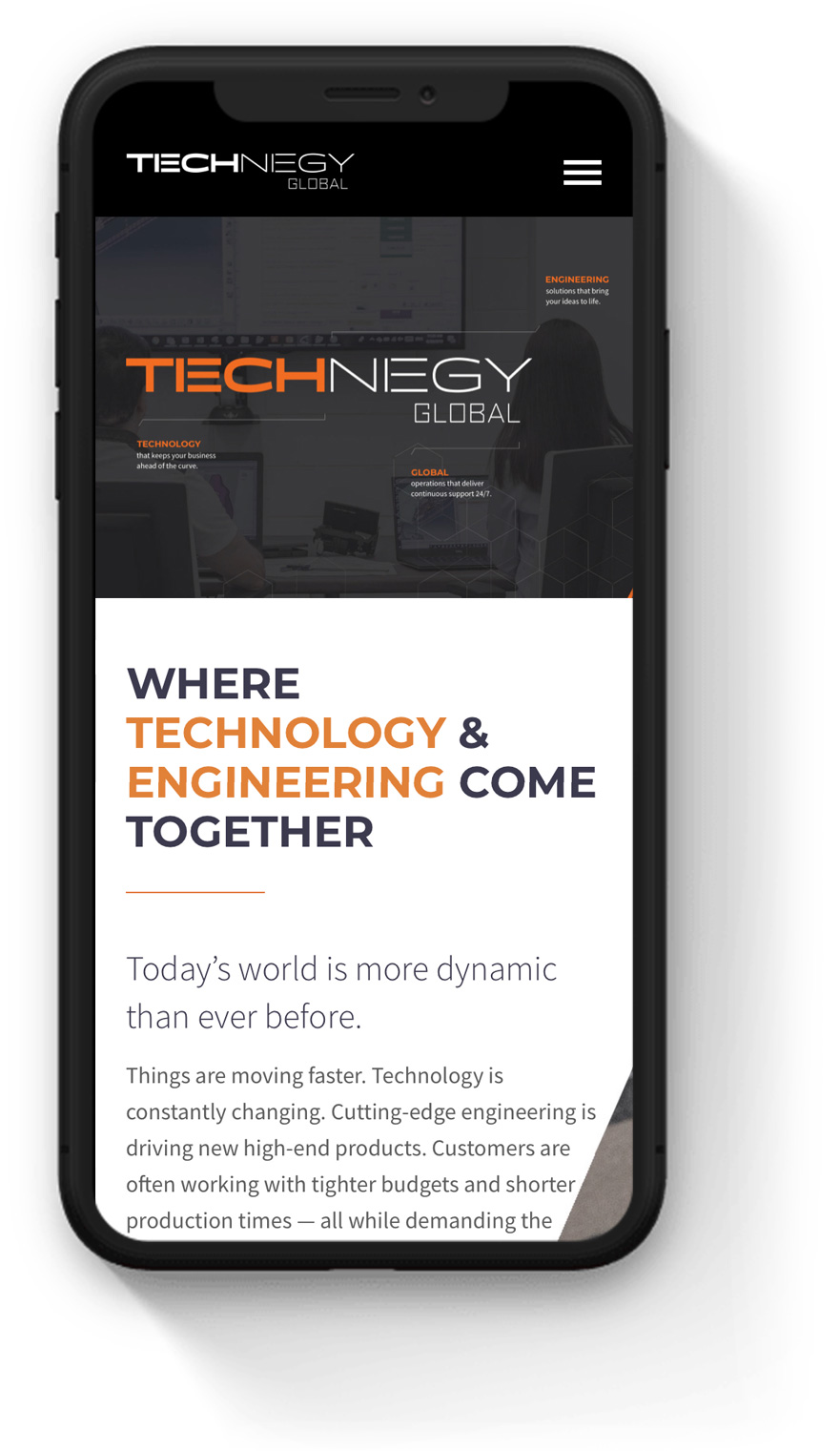 Technegy engineering mobile web design