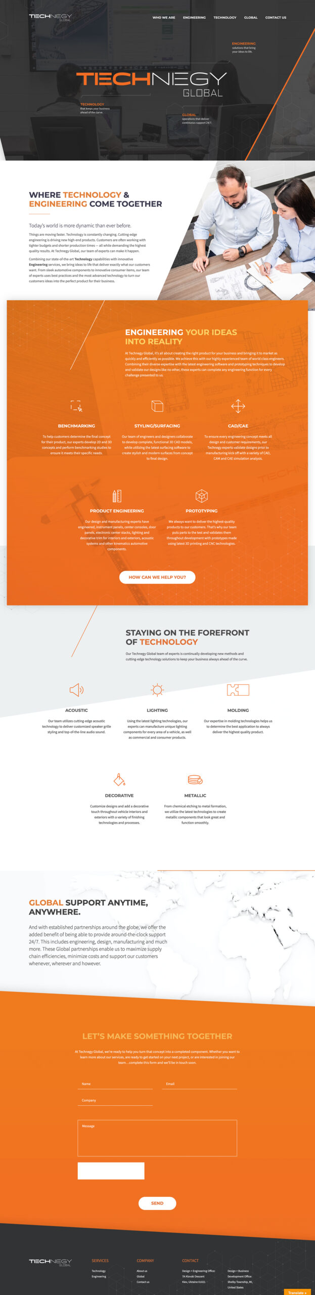 Single-page Website Design