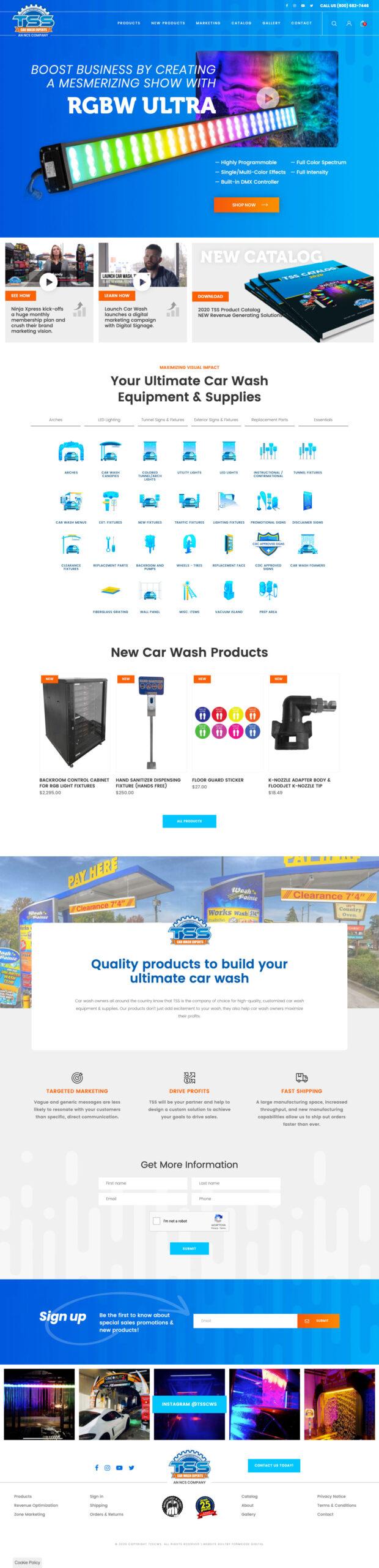TSS car wash marketing website
