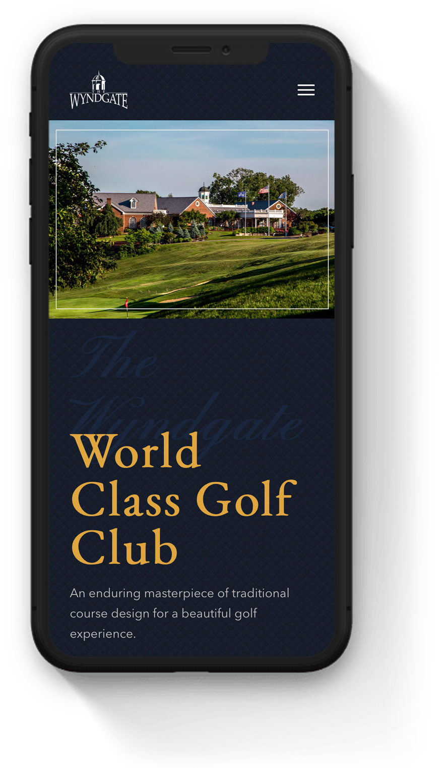 country club mobile web design