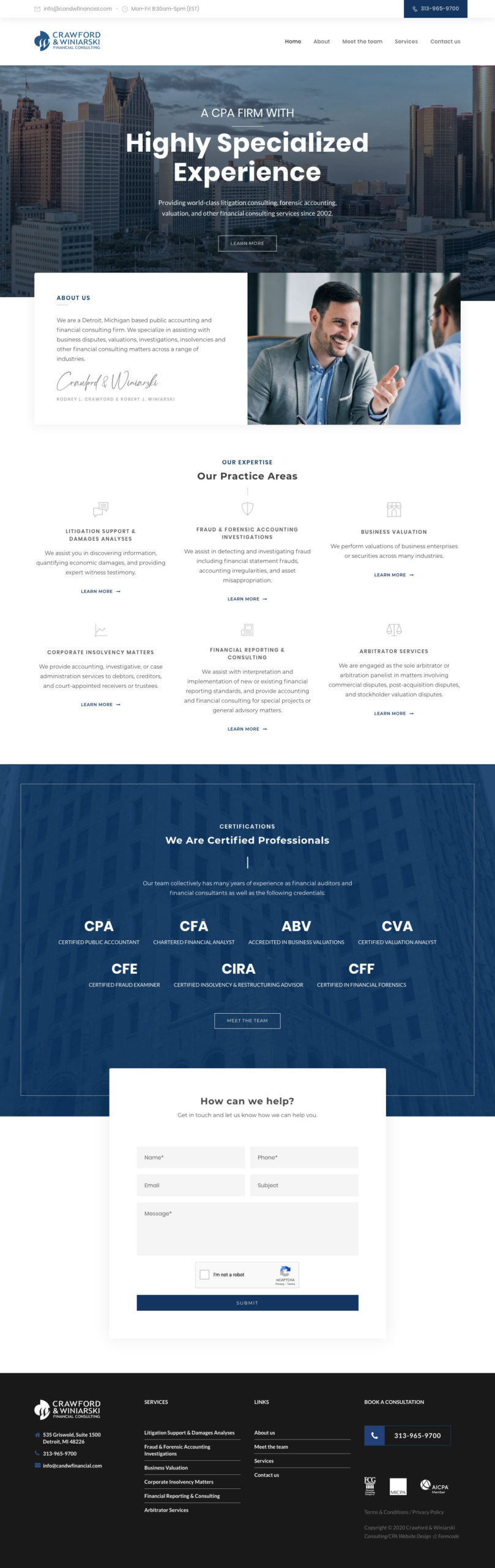 Financial Services Web Design - lead gen web design