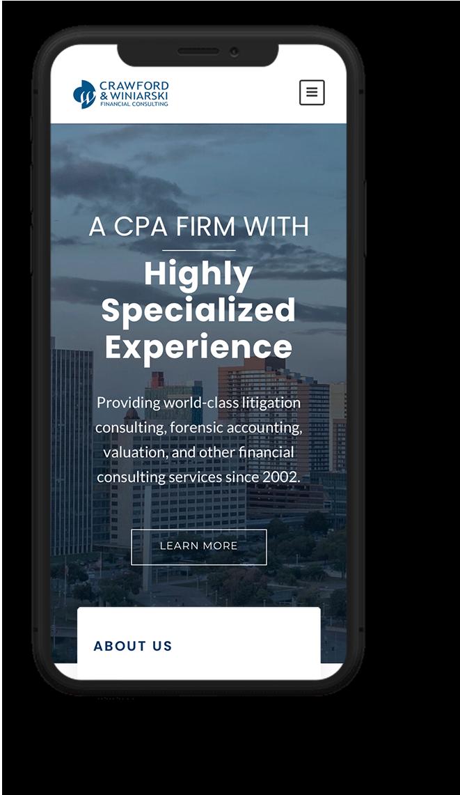 Financial Services web design - mobile web design