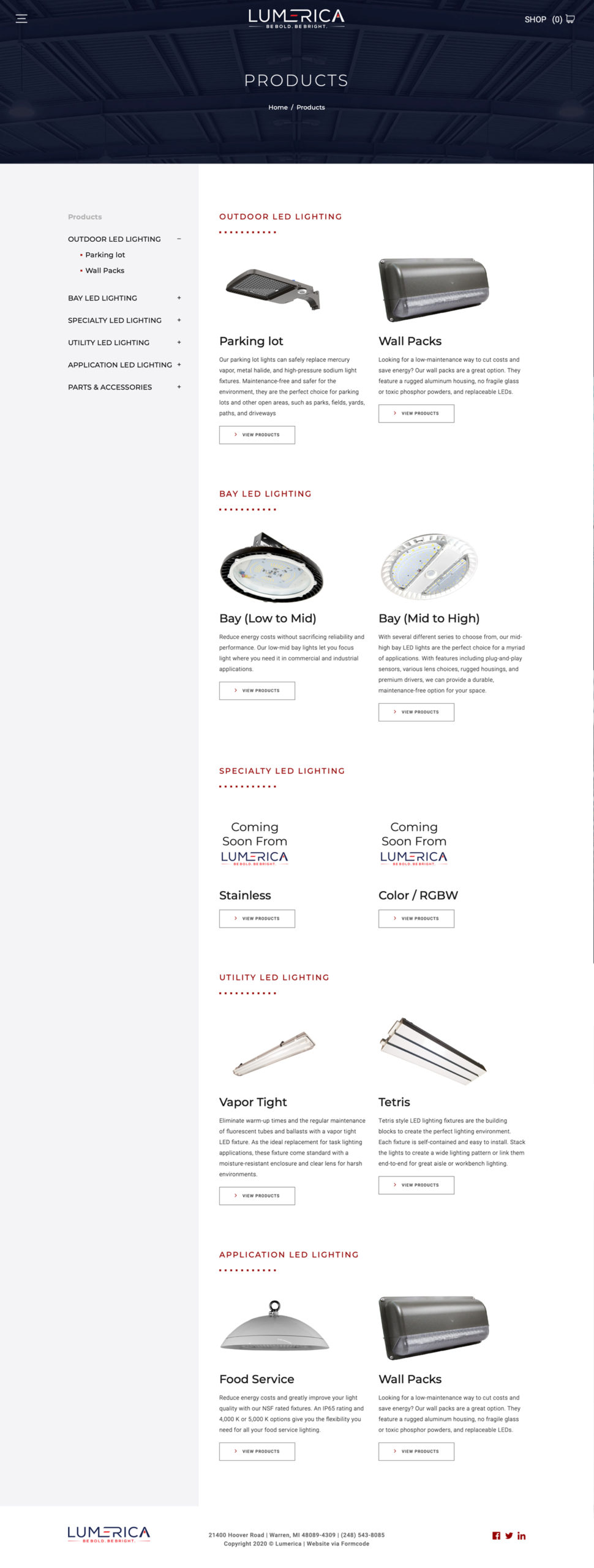 Commercial Lighting Products eCommerce