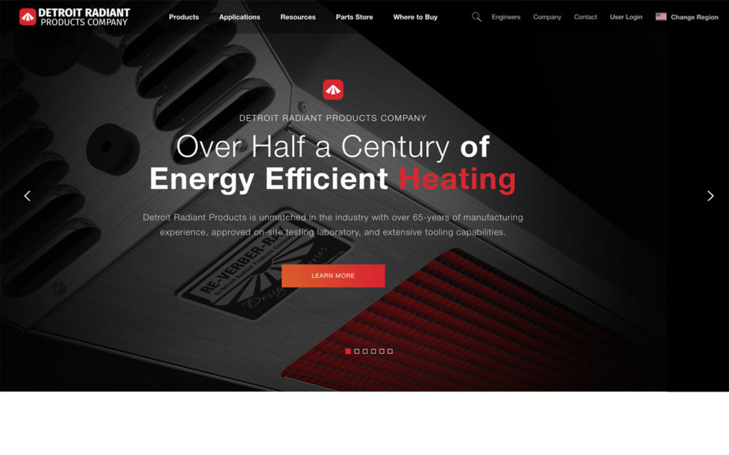 Detroit Radiant Products / Re-Verber-Ray Website Refresh 2020!