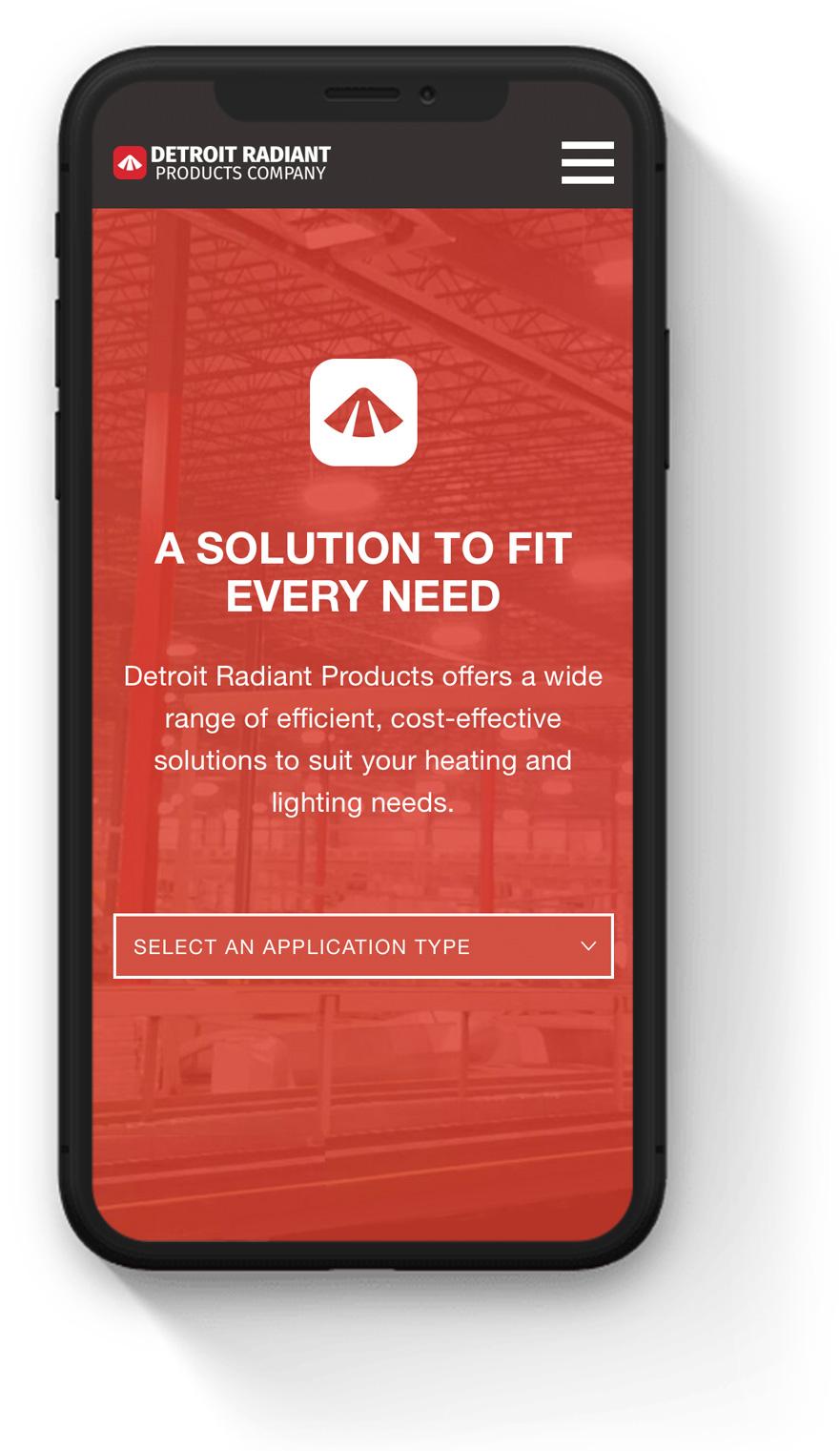 Manufacturer Website Mobile Design Example