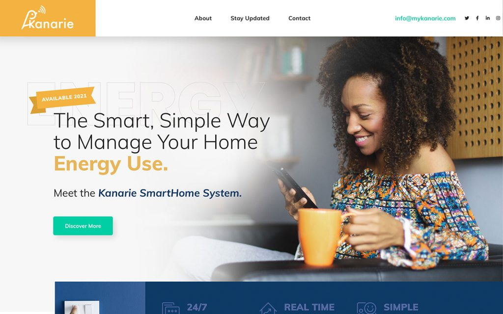 2021 Consumer Electronics Website Design - MY KANARIE!
