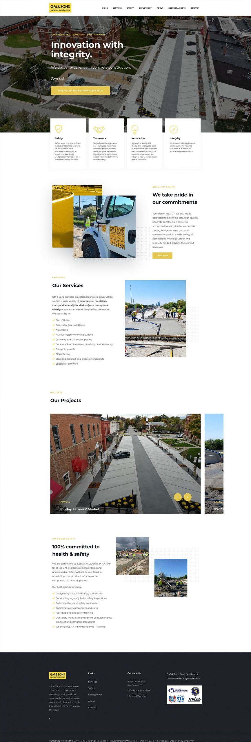 GM Sons Homepage