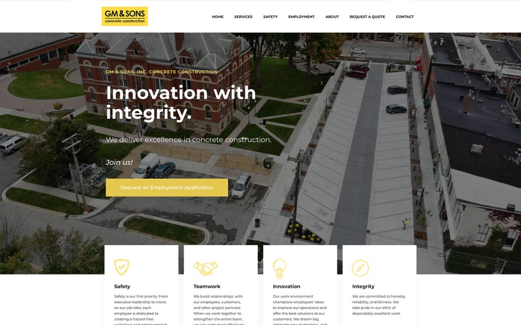GM and Sons Concrete Contractor Website 2021!