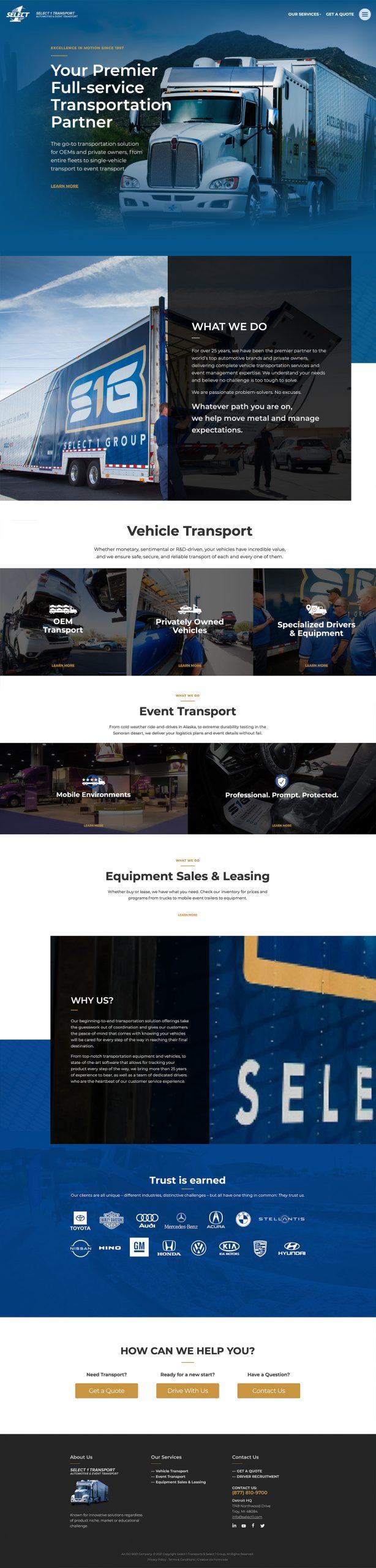Trucking & Logistics Website Development