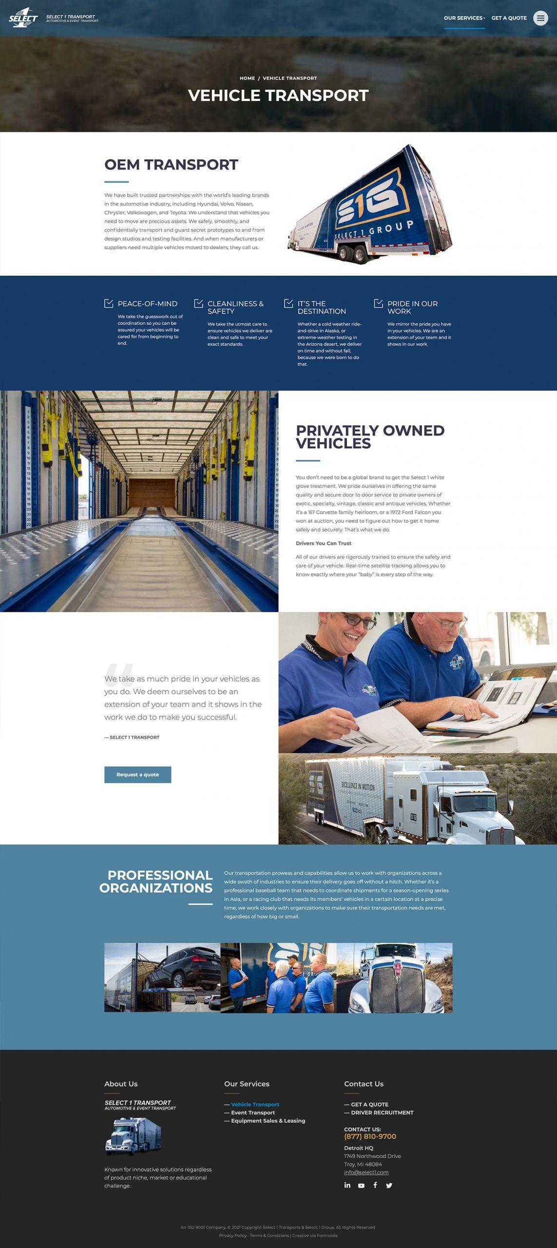Trucking & Logistics Website Design