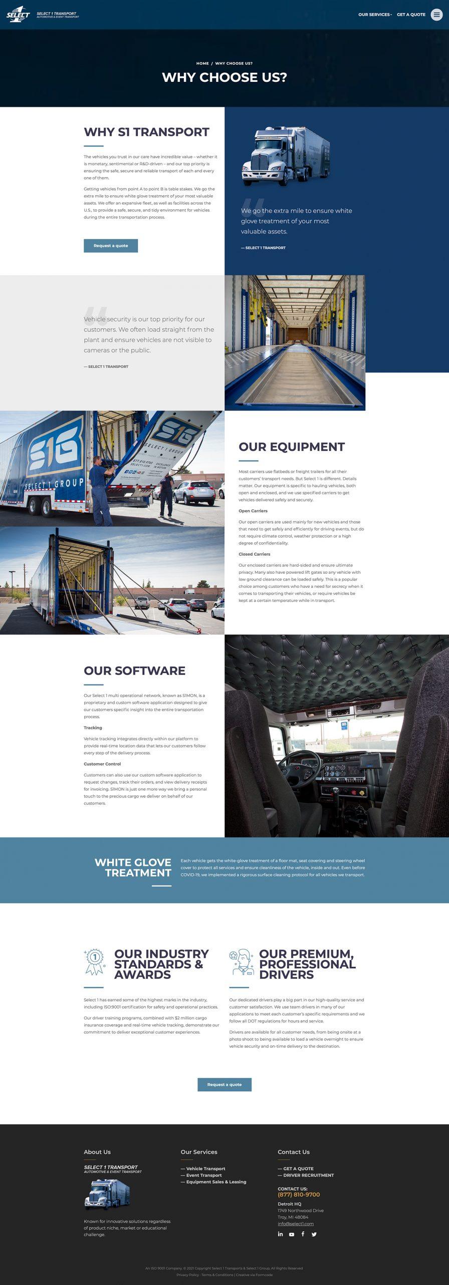 Trucking & Logistics Web Page