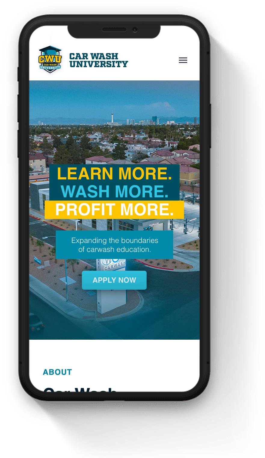 Mobile Business Education Web Design