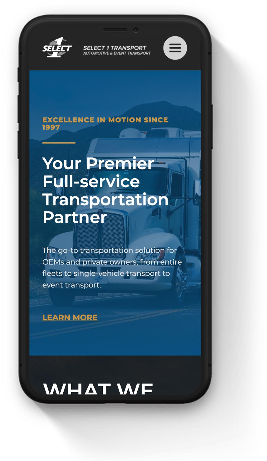 Mobile Trucking & Logistics Website Design