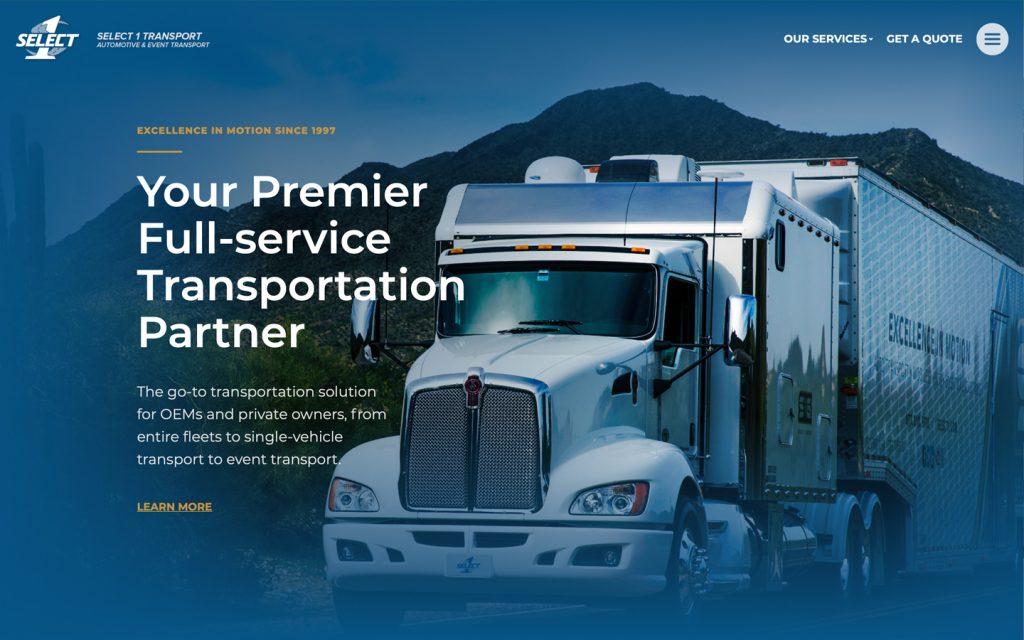 Select 1 Transport Website 2021