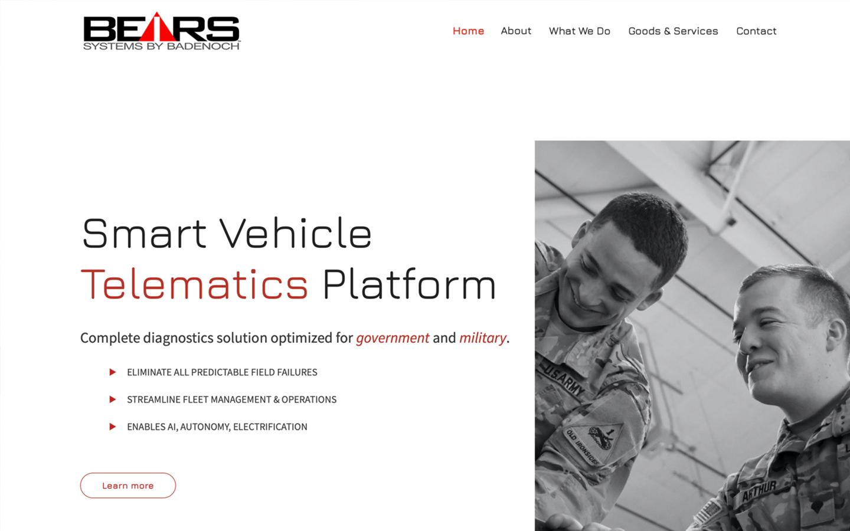 Defense & Technology Web Design