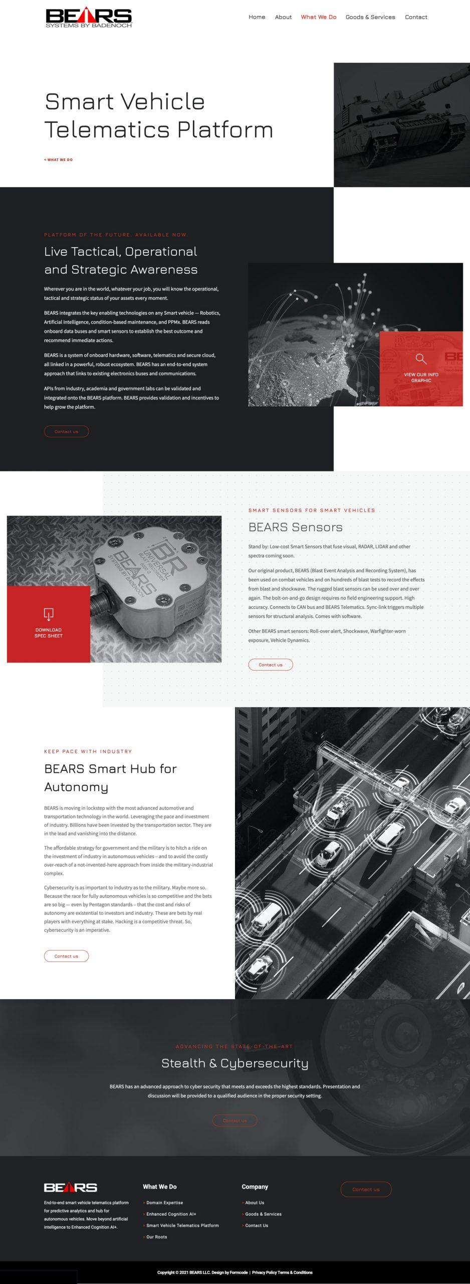 Defense & Technology Informational Web Design