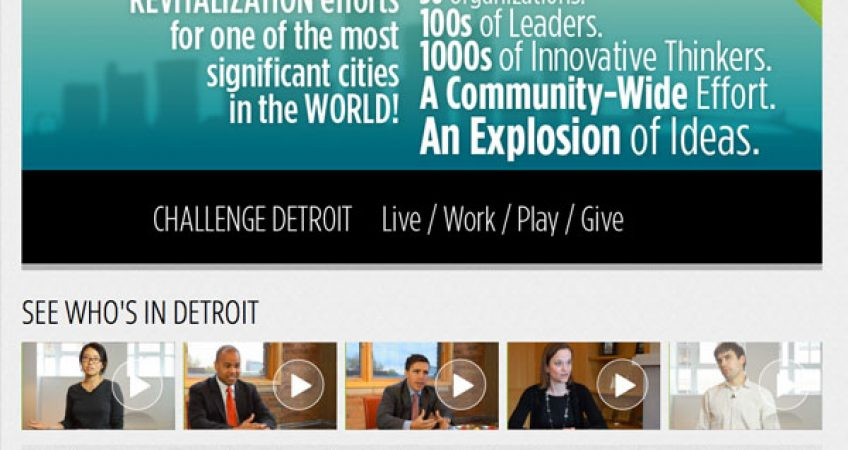 Launching The Challenge for Detroit  ChallengeDetroit.org 1